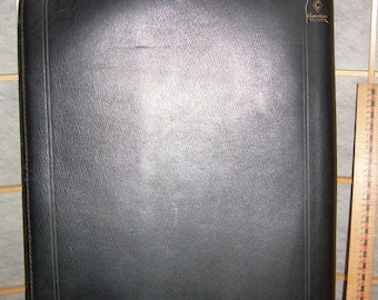 SALE! Top grain Cowhide LEATHER BINDER/Case was made by Cooper Weeks Ltd., Canada. Very sturdy, 17 x 13 x 1 inch. Gently pre-used. Pre-1970s