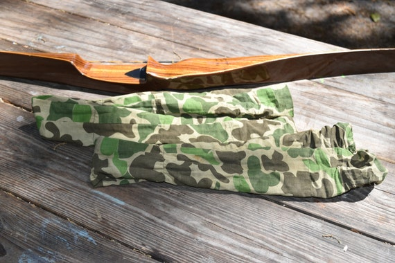 Archery bow limb covers, limb covers for recurve or longbow, camo cover for bowhunting