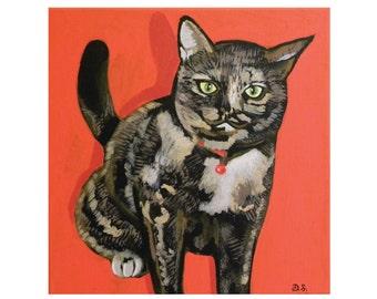 Tortie Cat Print