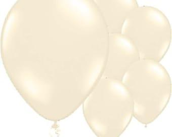 Balloons | Wedding Balloons | Ivory Balloons | Metallic Ivory Balloons | 11 Inch Diameter