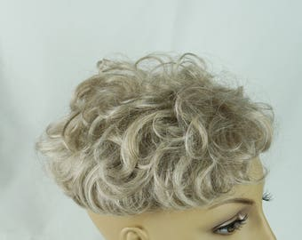 Costume Wiglet White Curly Insert with Combs