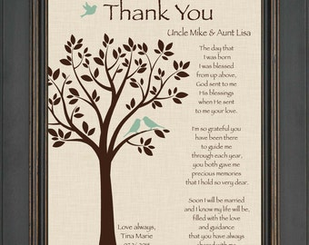 Custom Aunt and Uncle Gift - Gift from Bride on Wedding Day - 8x10 Print - Wedding Thank You Gift - Can be made in wedding colors