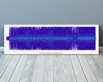 I Believe In A Thing Called Love Sound Wave Art Inspired By The Darkness - 24x8 Inch Canvas, Poster or Digital Image - Free P&P
