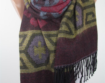 CHRISTMAS Gift For Her Blanket Scarf Cozy Winter Scarf Shawl Indie Fashion Scarf Tribal Scarf Warm Scarf  Fashion Accessories Gift For Mom