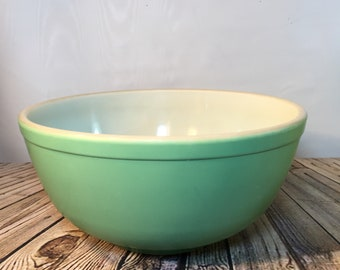 Rare Vintage Pyrex ORIGINAL green primary 403 nested mixing bowl unnumbered