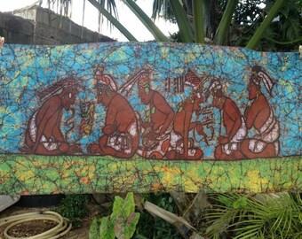 Batik of a Mayan math class