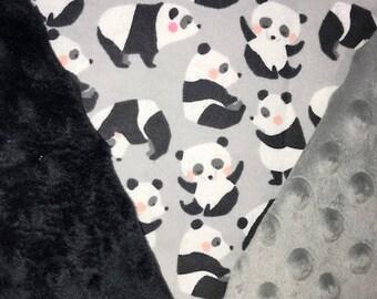 Personalized, Customized, Playful Panda Blanket