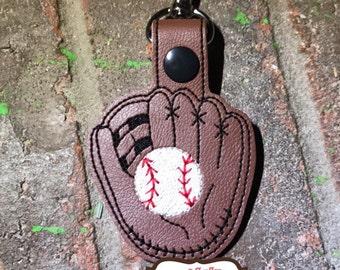 Baseball glove keychain-baseball keychain-baseball gift