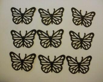 9 Black Card Stock Butterflies Embellishments Scrapbooks