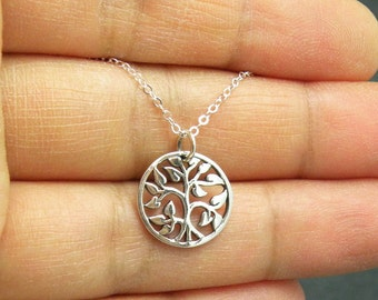 Tiny Tree of Life Sterling Silver Charm Necklace