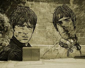 Oasis Wall Graffiti A4 Print