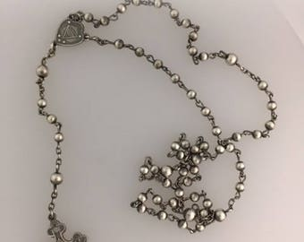 Silver Rosary Necklace (second amount)