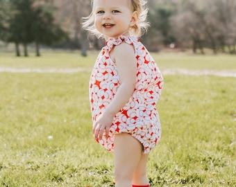 Baseball Sister, Red Baseball Romper, Baby Girl Romper, Girl Baseball Outfit, Summer Romper, Bubble Romper, Baseball Outfit, Toddler Romper