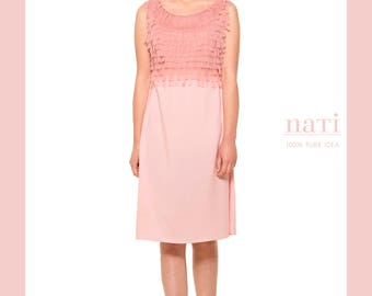 Rose coctail dress haute couture