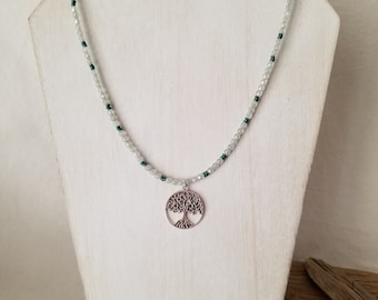 Rejuvenate Beaded Tree Of Life Pendant Necklace