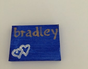 2 Hearts placecard blue
