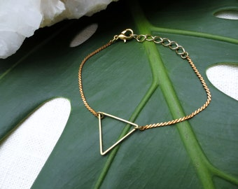 Triangle Bracelet Minimalist Brass Bracelet Geometric Bracelet