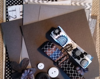 Black and White Craft Kit; Smash Book; Inspiration Kit; Junk Journal Kit; Scrapbook Kit