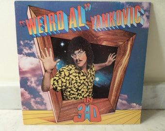 Vintage 1984 Vinyl LP Record In 3-D Weird Al Yankovic Near Mint Condition 14982