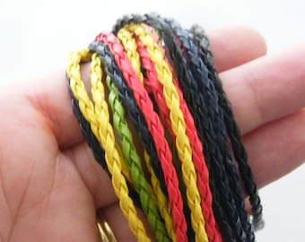 BULK 20 mixed leather bracelets 24cm x 3mm
