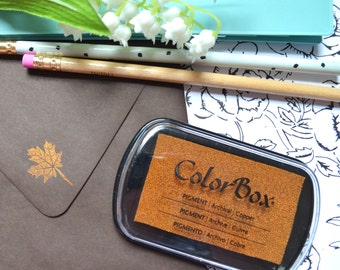 Metallic Copper Ink Pad - Colorbox Pigment Ink pad in Metallic Copper