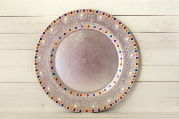 Mehndi Plates Uk : Silver charger plates wedding decorations indian mehndi