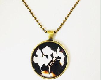 Black Hydrangea Necklace