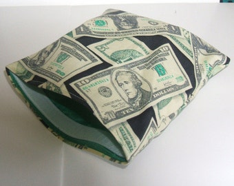 Sandwich and Snack Baggie Reusable Eco Friendly Money Fabric