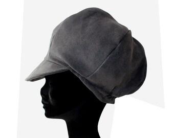 Hat Rasta gray fine velvet fabric ras faux suede - special Dreadlocks!