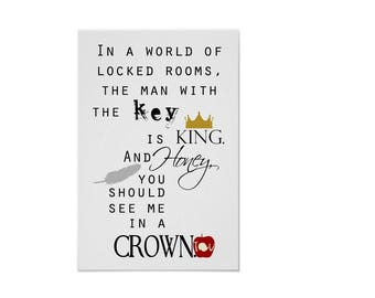Honey You Should See Me In A Crown Moriarty Sherlock Quote Print #2