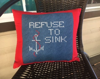Refuse to Sink pillow