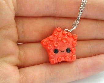 Polymer clay kawaii starfish