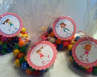 Roller Skating Party Tags ( TAGS ONLY) Set of 12 / Rollerskating Party Favors / Skating Party Favors / African American Rollerskating Favor