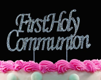 First Holy Communion Cake Toppers Baptism Religious Party Cake Topper Centerpiece