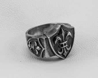 Silver Ring, Gothic Jewelry Ring, Sterling Silver 925, Hand Made, Steampunk, Any Size, Jewelry, Contemporary Ring