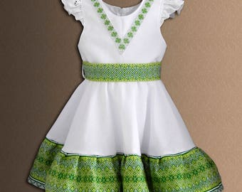 Ukrainian Children's dress Ukrainian embroidery Vyshyvanka dress Ukrainian clothing Baby Girl Dress Different colors.