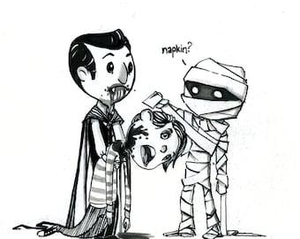 Mummy and Dracula