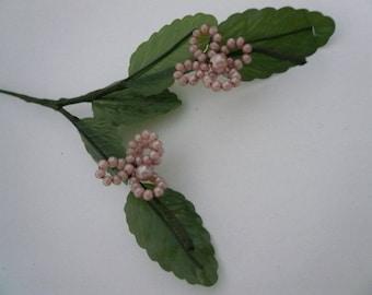 Vintage Pink Pearl  4 Petal Flower
