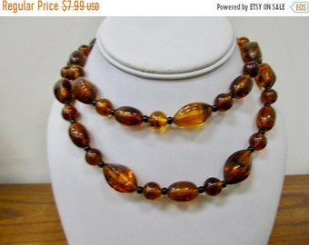 On Sale Vintage Torte Plastic Beaded Necklace Item K # 558