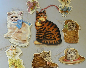 Vintage Merrimack Cat Christmas Ornaments Victorian Style -8