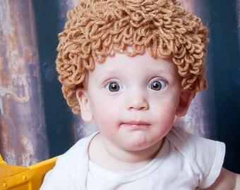 Cabbage Patch Hat - Cabbage Patch Wig - Cabbage Patch Costume - Cabbage Patch Hair - Cabbage patch Halloween Costume - Yarn Wig -  Baby