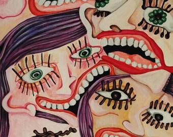 Anxiety- Original Acrylic Painting