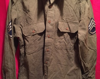 WW2 U.S Army Wool NCO Shirt