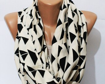 geometric scarf, scarf, infinity scarf, ethnic scarf, women's gifts, Christmas gifts,women's accessories,fashion,tribal scarf, Scarves Wraps