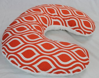 SALE! Orange and White Nursing Pillow Cover