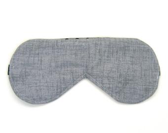 Sleeping Eye Mask / Night Eye Mask / Travel Eye Mask / Sleep Mask - Gray Twill