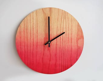 Gradient Rustic Wall Clock, Large Wall Clock, Weathered Wood Clock, Home Decor, Reclaimed Wood Decor, Ready to Ship, Gift Idea