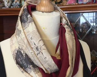 Harry Potter inspired Infinity Scarf, featuring House colour