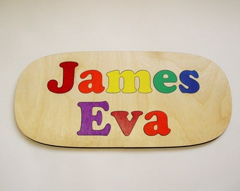 Wooden Name Puzzle ~ First & Last Name Personalized Wooden Puzzle ~ Childrens Puzzles ~ Customized Puzzle ~ Educational Toy ~ Flush Letters