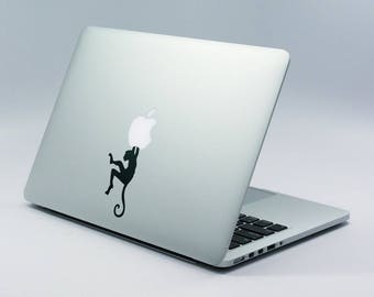 Just Hanging Decal Sticker, Laptop Skin, Chilling, Hanging Monkey, Relax Time, Stretch, mac, Macbook Decal Sticker